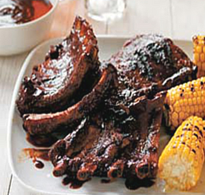 Coffee Brushed Barbeque Ribs